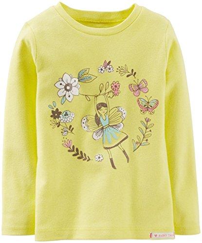 Carter's Flower Girl Tee (Baby) - Yellow-9 - Girl Glamour Tee