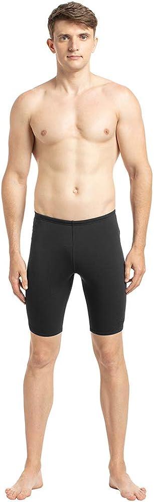 Speedo Mens Essential Endurance+Swimming Jammer (Black, 36)