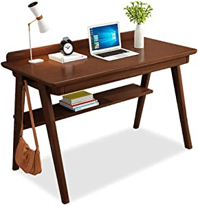 Desk Solid Wood Office Table with Drawer, Heavy Duty Office Desk Writing Study Desk Durable for Home Pc Laptop-b2 80x55cm(31.5x21.6in)