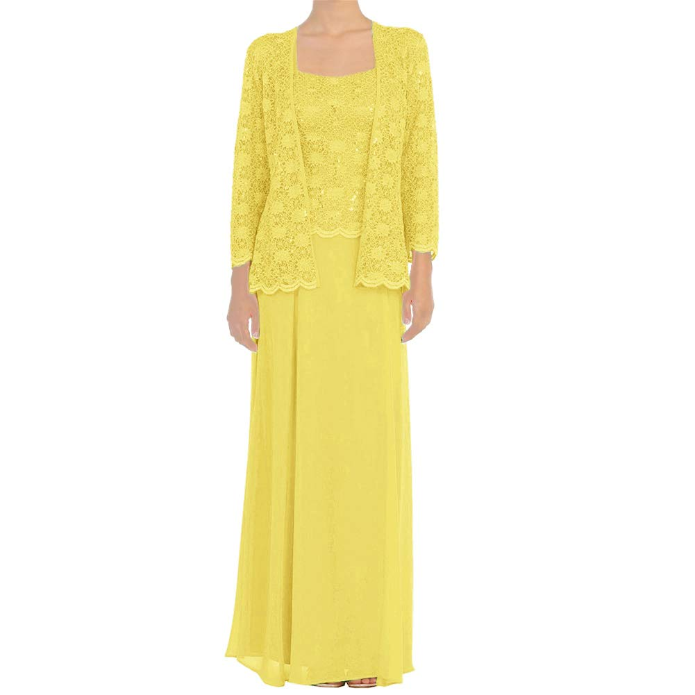 Daffodil H.S.D Mother of The Bride Dress Lace Long Formal Gowns with Jacket