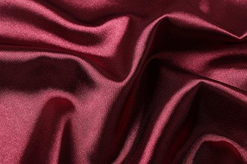 Profondo Pizzo Rope Donna V in Corto e da Sexy Collare Rosso Merletto Camicia Raso BellisMira Piagiameria Serico Notte qwA7Fw1