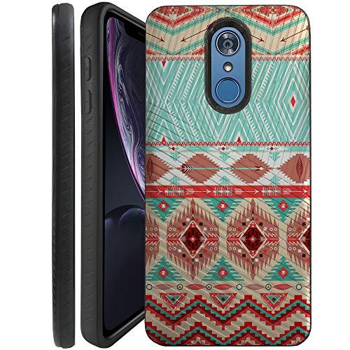 CasesOnDeck Case for LG K30/ LG Premier Pro LTE/LG Harmony 2/ LG Phoenix Plus - Combat Bump and Drop Dual Layer Slim Defender Cover (Blue Western) ()