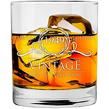 1949 70th Birthday Gifts For Women And Men Whiskey Glass