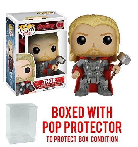 Funko Pop! Marvel: Avengers 2 - Thor Vinyl Figure (Bundled with Pop BOX PROTECTOR CASE)