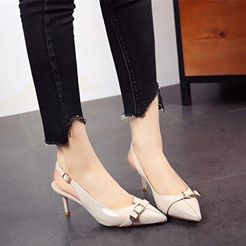 FLYRCX la alto de tacón solo y de de Estilo alto b de Zapatos zapatos los fiesta zapatos primavera tacón dama de rxSrfw6