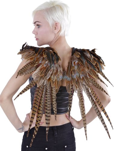 Zucker Feather Products Over The Shoulder Natural Pheasant Feather Wing, 24