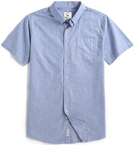 Men's Short Sleeve Oxford Button Down Casual Shirt Sapphire X-Large