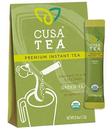 (Organic Green Tea by Cusa Tea - Cold Brew Tea - Premium Organic Instant Tea - USDA Organic Certified Tea - Zero Sugar, Preservatives or Flavorings (10 servings))