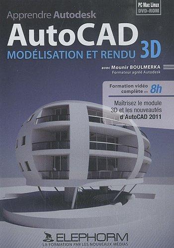 Apprendre Autodesk AutoCAD : Modélisation et rendu 3D : DVD-ROM