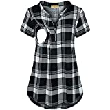 onlypuff Wine Red Shirts for Women Ladies Short...