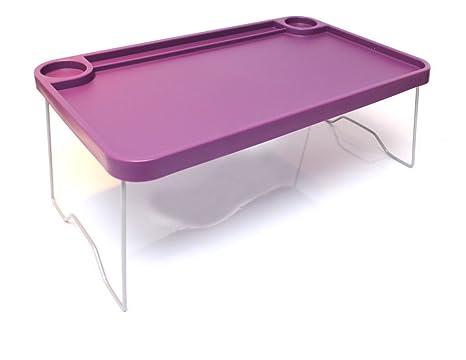 """IKEA bandeja de cama plegable 22 x 14 """"desayuno mesa portátil apoyo morado escritorio"""