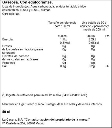 La Casera - Gaseosa, Botella 50 cl: Amazon.es: Alimentación y ...