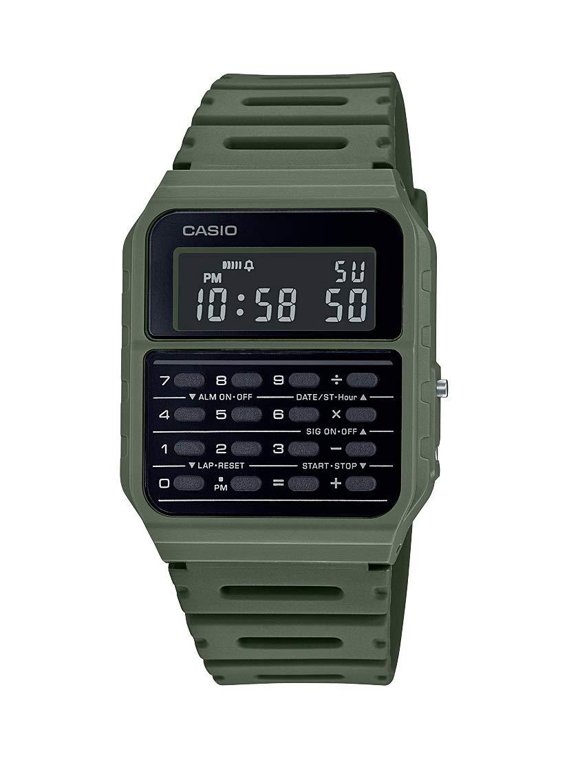 Casio Data Bank Quartz Watch with Resin Strap Green 24.1 (Model: CA-53WF-3BCF)