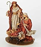 13'' Have Faith Fabric Mache Religious Holy Family Christmas Nativity Figure on Base