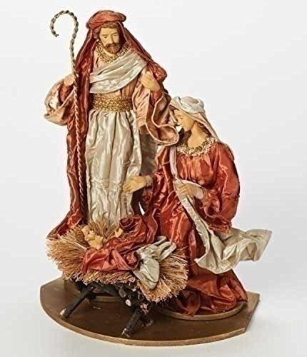 13'' Have Faith Fabric Mache Religious Holy Family Christmas Nativity Figure on Base by Roman