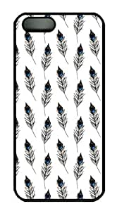 iPhone 5S Case Peacock Feathers Pattern PC Hard Plastic Case for iPhone 5/5S Black