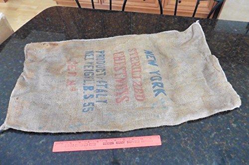 Review Vintage Burlap bag Chestnuts