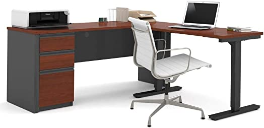 2-Piece set including a standing desk and a desk