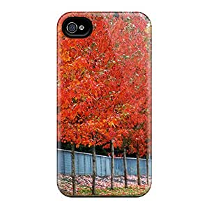New Style Case Cover UNDuVWY6077CisUu Row Of Trees Compatible With Iphone 4/4s Protection Case
