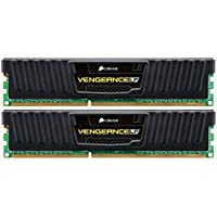 Corsair CML8GX3M2A1600C9 Vengeance LP 8GB (2x4GB) DDR3 1600 Mhz CL9 Mémoire pour ordinateur de bureau performante avec profil XMP. Noir