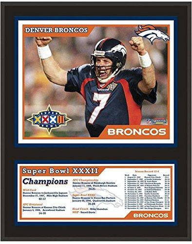 Denver Broncos Super Bowl XXXII Sublimated 12x15 Plaque - Fanatics Authentic Certified - NFL Team Plaques and Collages