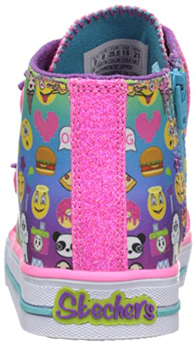 Skechers Kids Girls' Twinkle Breeze Sneaker, Emoji Multi, 9 M US Toddler
