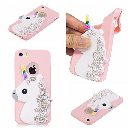 iPhone 5S Case,iPhone 5,iPhone SE,DAMONDY 3D Cute Cartoon Bling ...