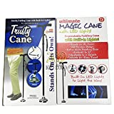 GDreamer Walking Cane and Flashlight - Self Balancing Walker with Bright Flashlight and Bending Joint Trustry Cane as seen on TV