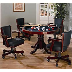 Coaster Mitchell Casual Amber 5-Piece 3-in-1 Game Table Set