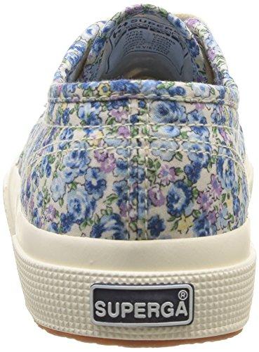 Superga 2750 Cotu Fabric - Autre Unisex adulto Blue (Flowered Blue/Azul)