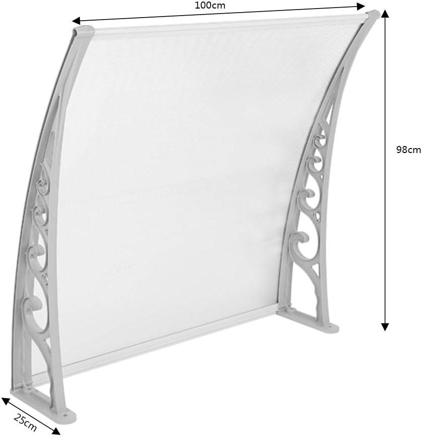 100x150cm Marquise de porte Polycarbonate 100x150cm Auvent de Porte