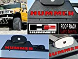 hummer chrome roof accessories - Red Roof Rack Letter Inserts for Hummer H2 Not Decals (SET OF 4)