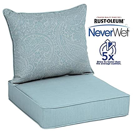 allen + roth Neverwet 1-Piece Spa Blue Kensley Deep Seat Patio Chair Cushion - Amazon.com : Allen + Roth Neverwet 1-Piece Spa Blue Kensley Deep