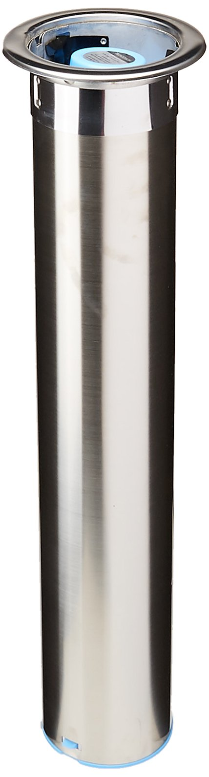 San Jamar C3400C Stainless Steel In-Counter Horizontal Cup Dispenser, Fits 12oz to 24oz Cup Size, 23-1/2'' Tube Length
