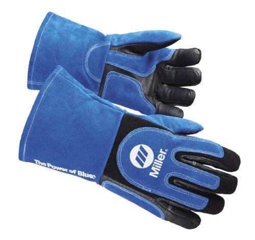 Miller ELECTRIC263339 Welding Gloves, 3D, Wing, 13In, Blueblack, PR by Miller Electric