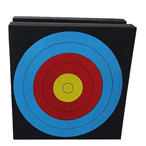 Elitek(TM) T4426 Classic Cube Foam Bullseye Archery Targets for Outddor Range- Black
