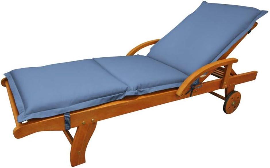 indoba Premium Sonnenliege blau Polsterauflage Sitzauflage Sonnenliege Auflage Polster Auflagen Liege Gartenliege
