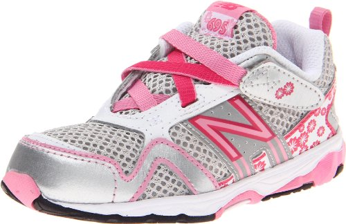 New Balance KV695 Shoe (Infant/Toddler),Silver/Pink,6.5 XW US Toddler