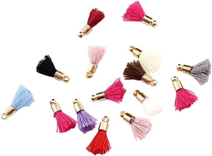 nbeads 1 Sac 39-47 Pcs//Sac 25-31 /× 5 mm Couleurs M/élang/ées Coton Fabriqu/és Pompons Pendentifs pour La Cr/éation de Boucles doreilles DIY Bracelet