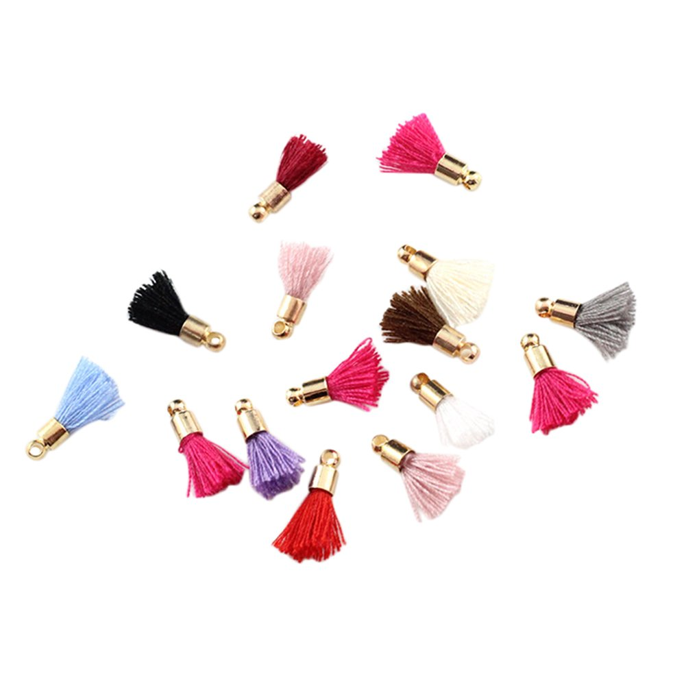 22x Namgiy Tassels Mini Tassel Pendant With Bronze Caps for Making Souvenir Bookmark DIY Craft Supplies