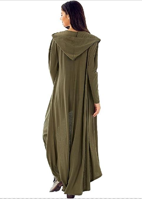 3184747442 Amazon.com  Long Ankle Length Cardigan Duster Hooded Long Sleeve Black  Olive  Clothing