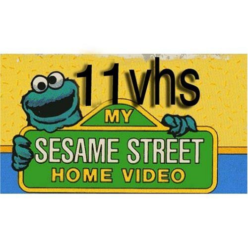 sesame street set 11 vhs: Emmet Otter's JugBand Christmas, Sesame Street - Elmo Says Boo, Jim Henson Video: The Tale of the Bunny Picnic, Sesame Street - Zoe's Dance Moves , Count It Higher Music Videos, Sesame Street - Learning to Share, Sesame Street - Ernie's Little Lie, Sesame Street - The Best of Elmo , Elmo's Sing-Along Guessing Game (Closed Captioned), Sesame Street's 25th Birthday - A Musical Celebration, Sesame Street - Elmo Visits the Firehouse