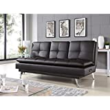Lifestyle Solutions Relax-A-Lounger Imperial Convertible Sofa in Java