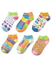 Jefferies Socks Little Girls'  Mod Low Cut Socks  (Pack of 6)