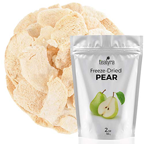 Pear - Freeze Dried Fruits Snacks Chunks - Non-GMO - Gluten-Free - No Sugar Added - 100% Natural and Organically Processes - Tealyra ()