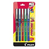 Pilot Precise V5 Stick Rolling Ball Pens, Extra Fine Point, 5-Pack, Assorted Colors, Black/Blue/Red/Green/Purple Inks -26013