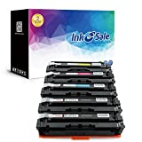 INK E-SALE Replacement for HP 201X CF400X CF401X CF402X CF403X CF400A Toner Cartridge for use with HP Color LaserJet Pro MFP M277dw, M252dw, MFP M277n, M252n, High Yield 5 Pack