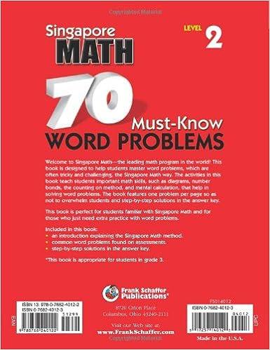 Amazon.com: 70 Must-Know Word Problems, Grade 3 (Singapore Math ...