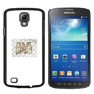 EJOOY---Cubierta de la caja de protección para la piel dura ** Samsung Galaxy S4 Active i9295 ** --Felicidad Cita de motivación del arte