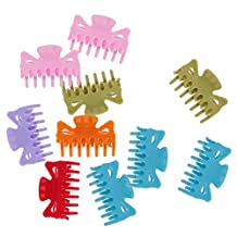 Dovewill Set of 10 Plastic Hairdresser Hair Claw Clips Clamps Grips Multicolor Hair Accessories